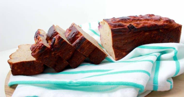 5-ingredient bananenbrood (gluten- en suikervrij!)