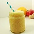 Banaan-appel smoothie met gember