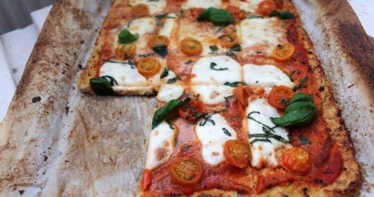 Gezonde pizza margherita