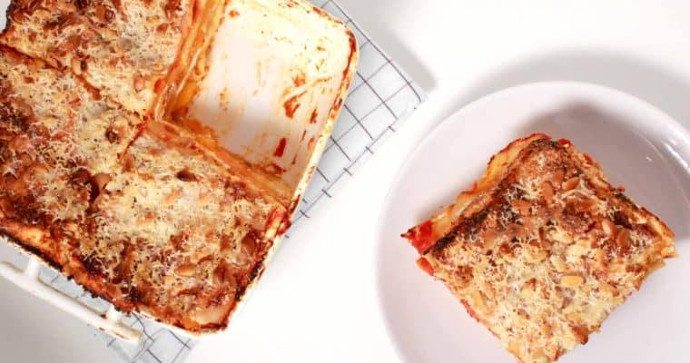 Lasagne met pompoen en ricotta