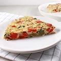 Kleurrijke frittata met ricotta