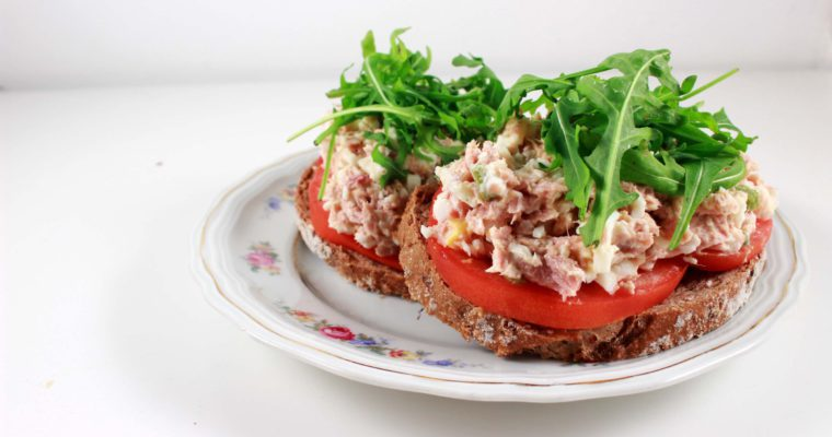 Homemade gezonde tonijnsalade