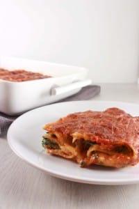 Lasagna rolletjes met spinazie