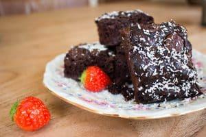 Chocolade Brownies met courgette