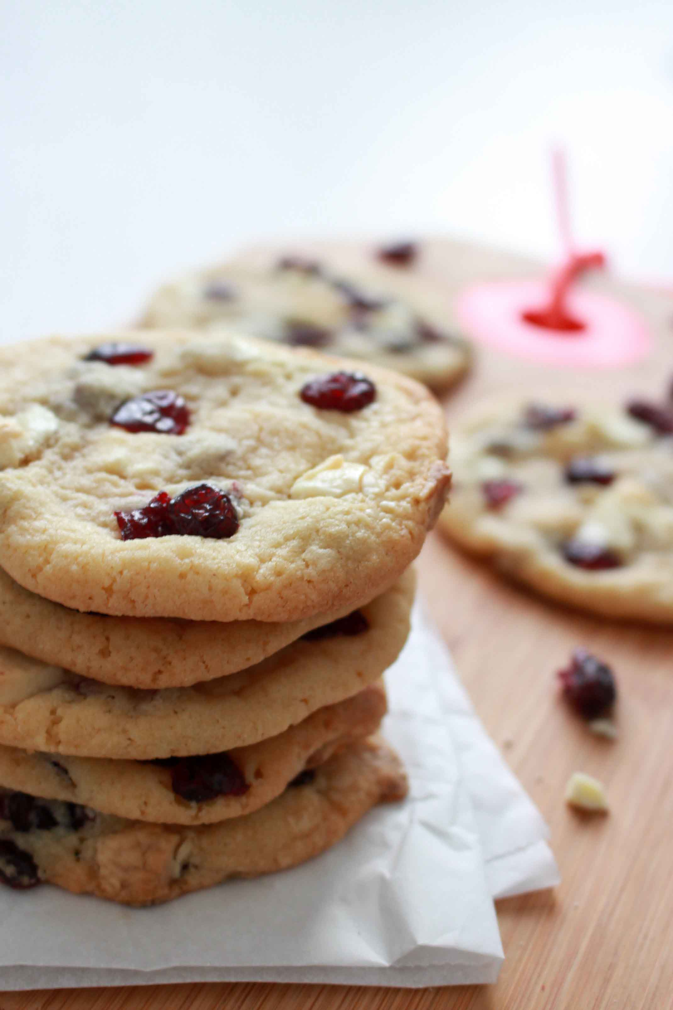Cookies met witte chocolade en veenbessen-3 2