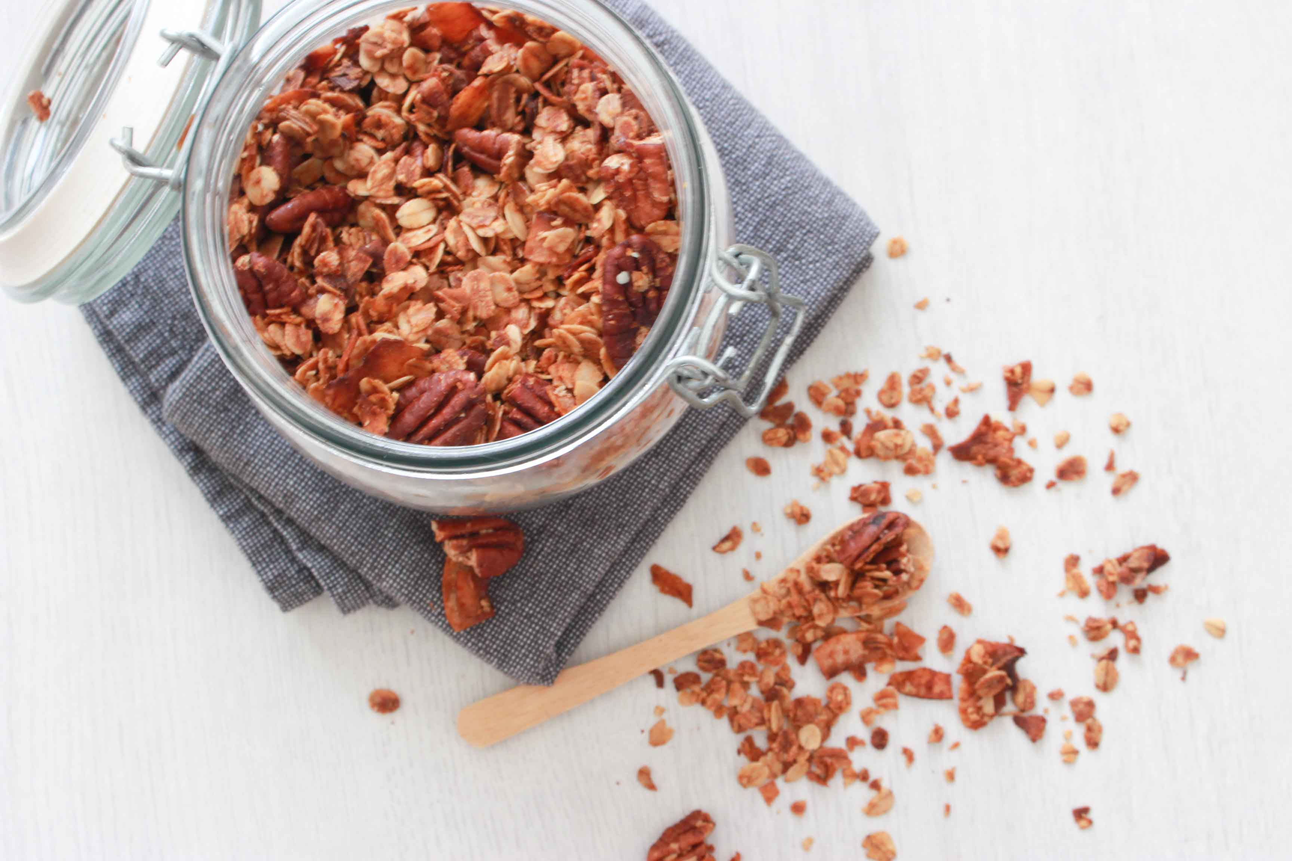 granola met kokos en pecan