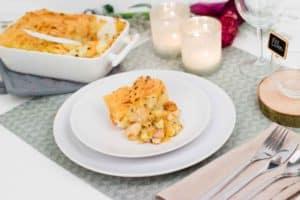 Kerstmenu: ovenschotel met kip, wintergroenten en puree