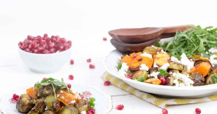 Spruitjes & zoete aardappel salade