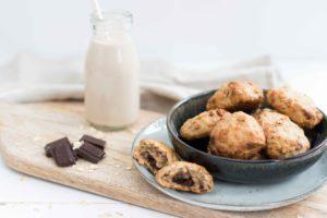 Ontbijtkoekjes met chocolade (vegan)