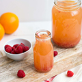 Limonade met framboos & grapefruit