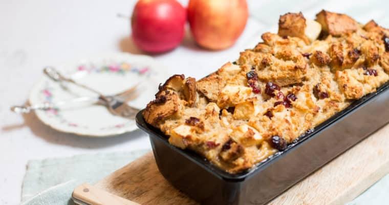 Heerlijke broodpudding met appel