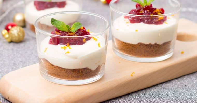 Kerstmenu: no-bake cheesecake met speculaas