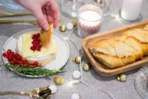 Kerstmenu: gebakken camembert met honing