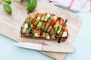 Toast avocado caprese