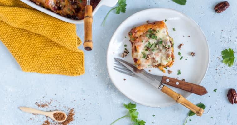 Cannelloni met pompoen en gekarameliseerde pecannoten