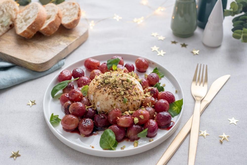 burrata met geroosterde druiven