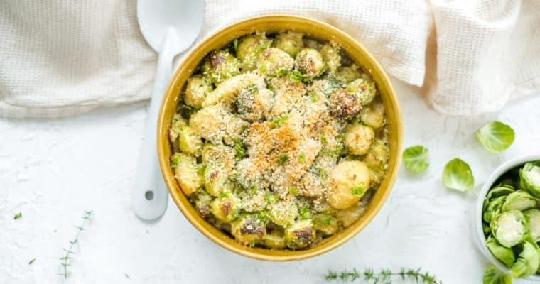 Gezondere aardappel gratin met spruitjes