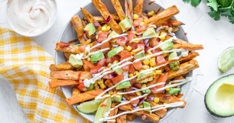 Mexicaanse zoete aardappel schotel