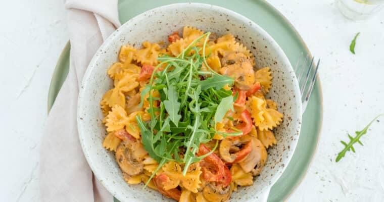 Romige pasta met spekjes