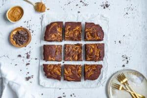 Pindakaas brownies (zonder suiker)