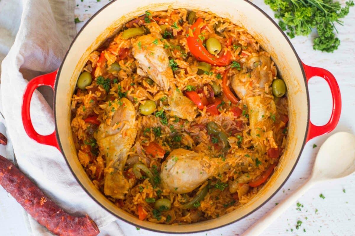 eenpansgerecht met kip en chorizo