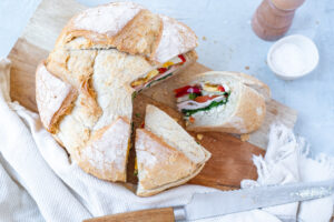 Goedgevuld vegetarisch picknick brood
