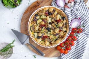 Provençaalse quiche met gegrilde groenten