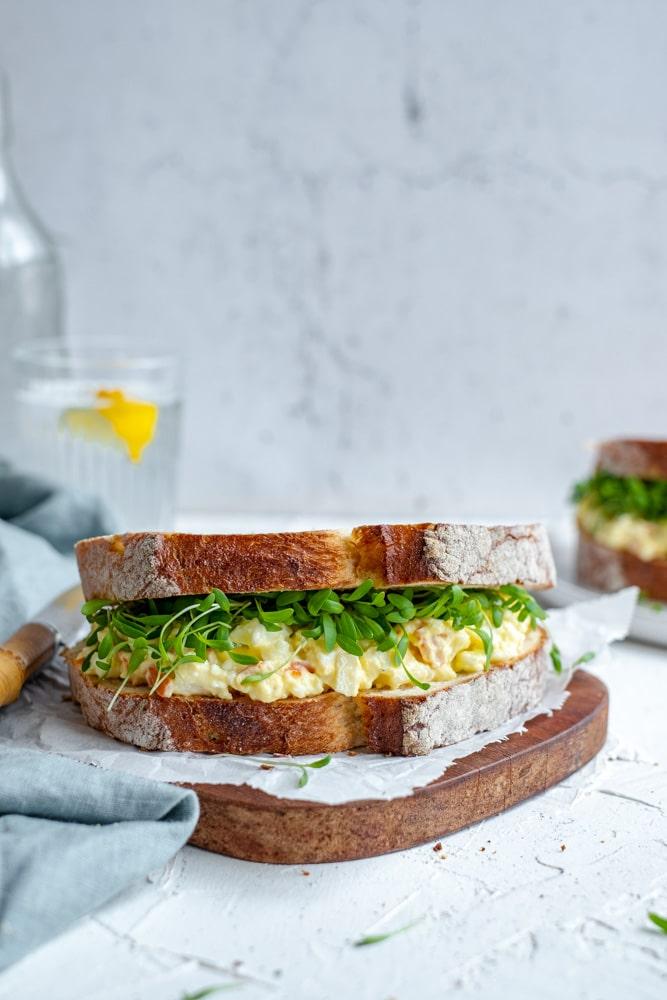 close-up surimi salade in vooraanzicht