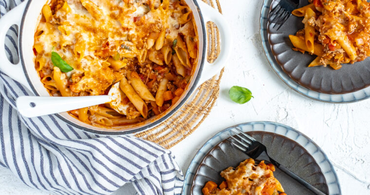 Eenpots pasta bolognese