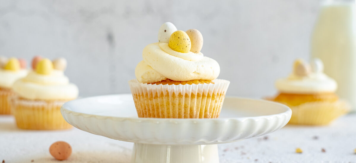 Gemakkelijke vanille cupcakes: basis recept