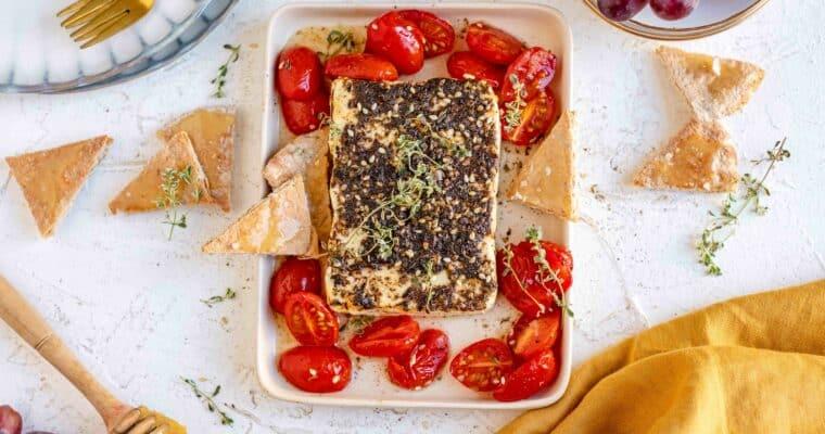 Feta uit de oven met honing