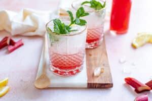 Rabarberlimonade (suikervrije optie)